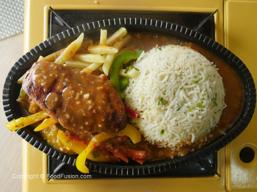 Chicken Sizzler With Garlic Rice  Food Fusion-8865
