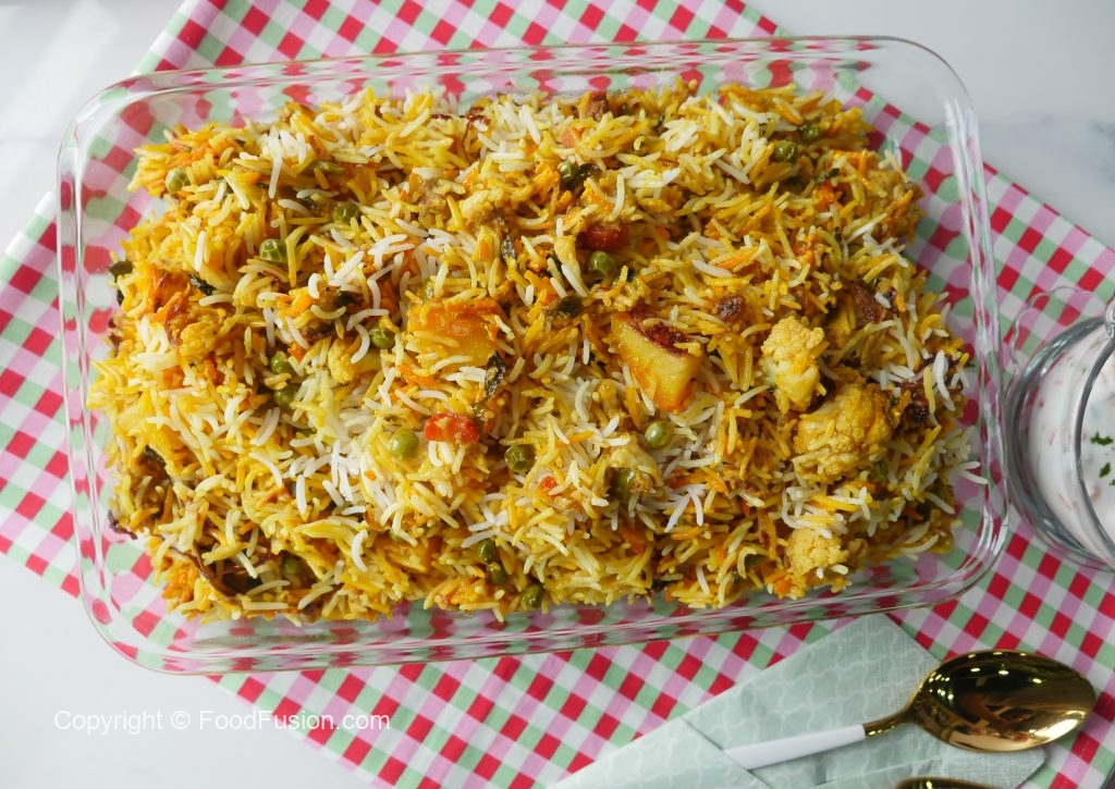 Mughlai Vegetable Biryani Food Fusion